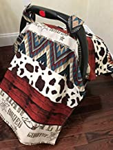 Car Seat Cover, Cowboy Car Seat Canopy, Rodeo, Western, Pony