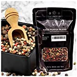 The Spice Lab Rainbow Peppercorn - Mixed Peppercorns with Pimenta (All Spice) – 1 Pound Resealable Bag -...