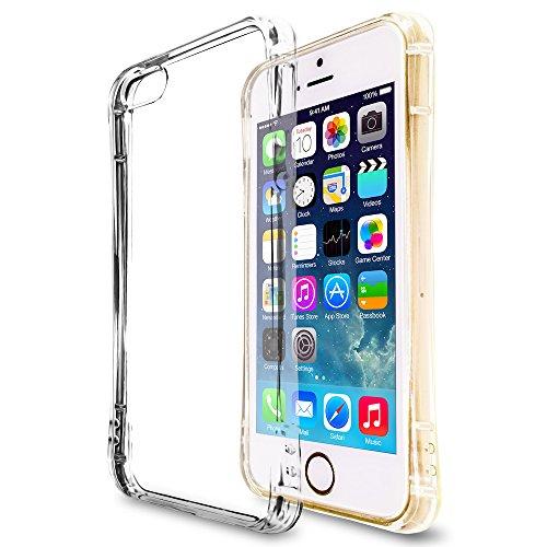 natura(ナチュラ) iPhone SE ソフトケース クリアケース カバー 円弧状 アークライン 液晶保護フィルム 耐衝撃エアクッション ストラップホール TPU素材 iPhone 5/5S ip5arc