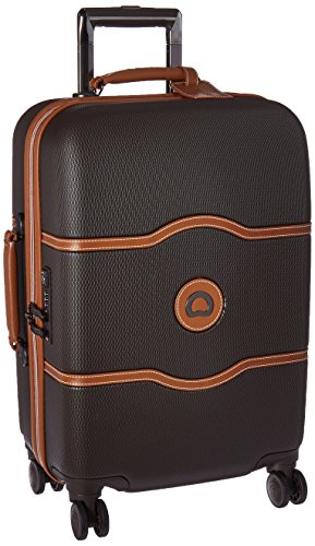 DELSEY Paris Chatelet Hard+ Hardside Carry-on Spinner Suitcase, Chocolate Brown, 21-Inch
