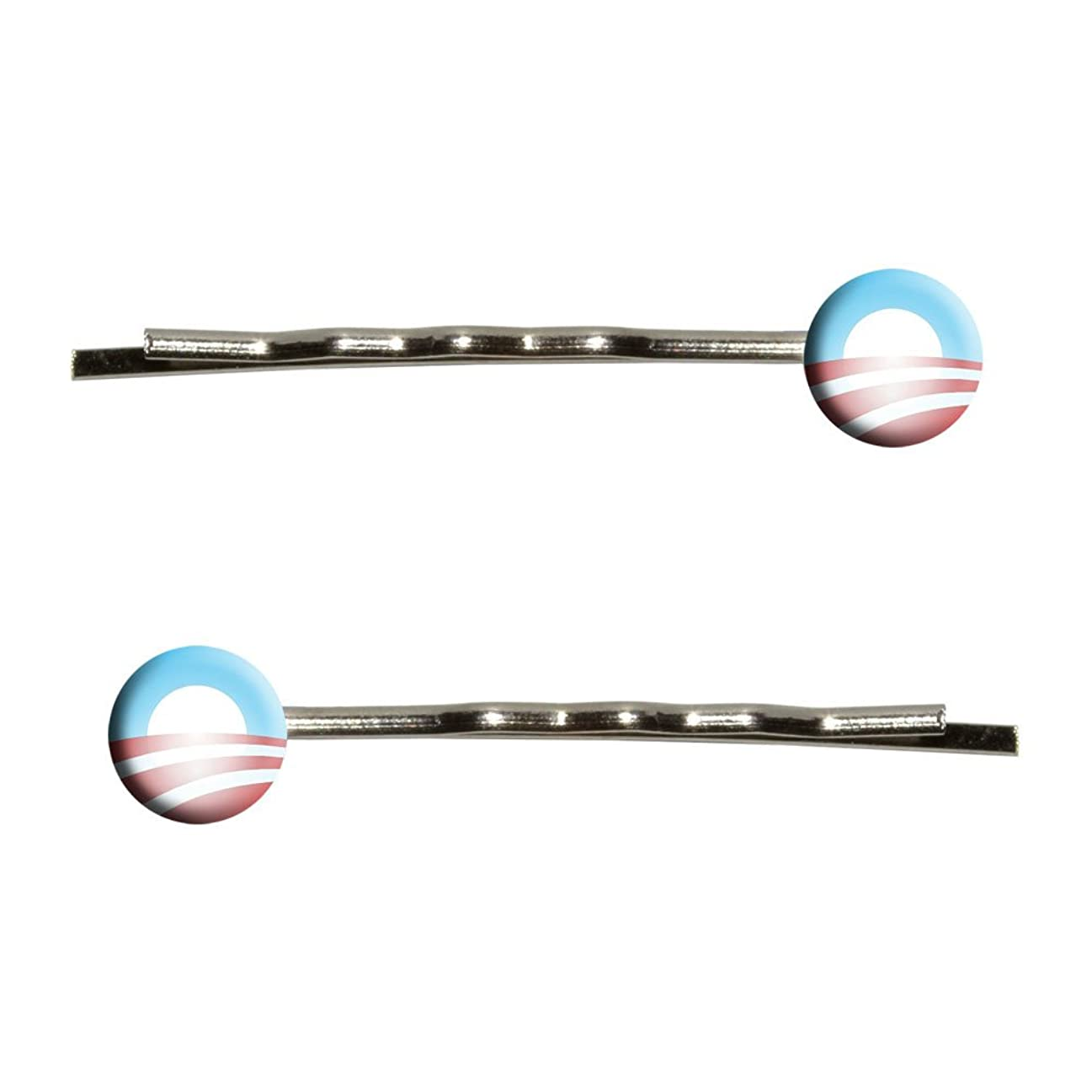 評価花弁故障Obama Logo Bobby Pin Hair Clips