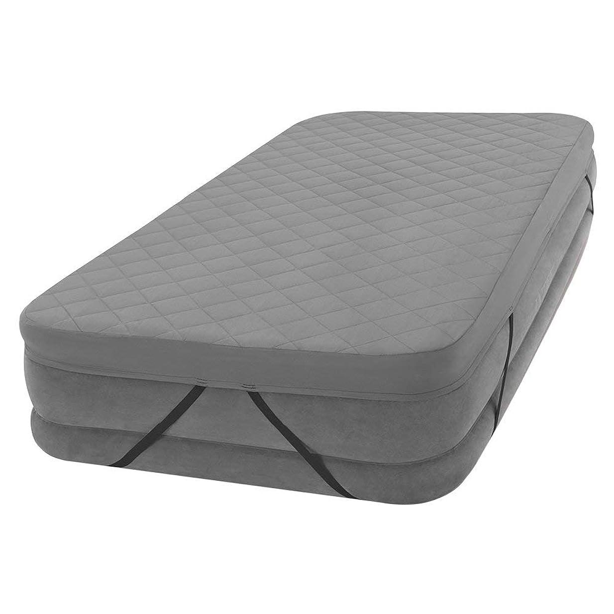 閉塞起こりやすいロータリーINTEX(インテックス) ベッドカバー グレー シングル エアーベッド カバー シーツ シングルサイズ対応 69641