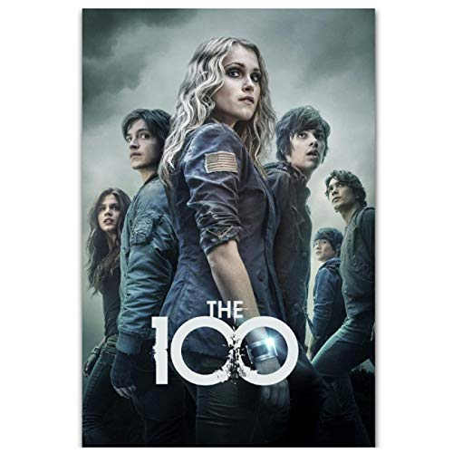 The 100 American TV Series Show Season Canvas Painting Wall Art Poster HD Print for Living Room Home Decor (19,69x27,56 in) 50x70 cm Senza Cornice