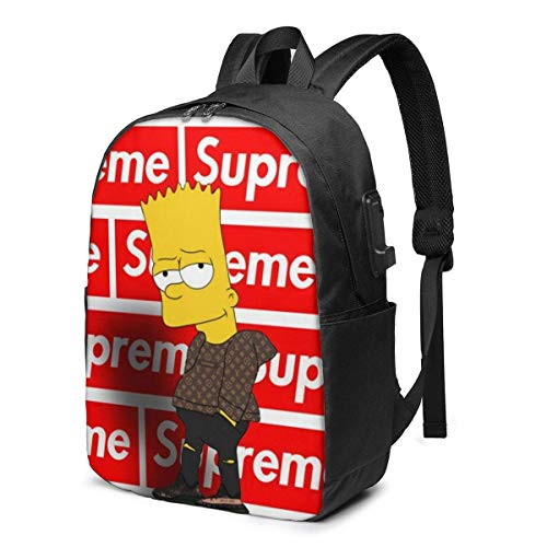 Die Simpsons Freizeit USB 17in Rucksack Laptop verstellbare Schulter Busin Travel School