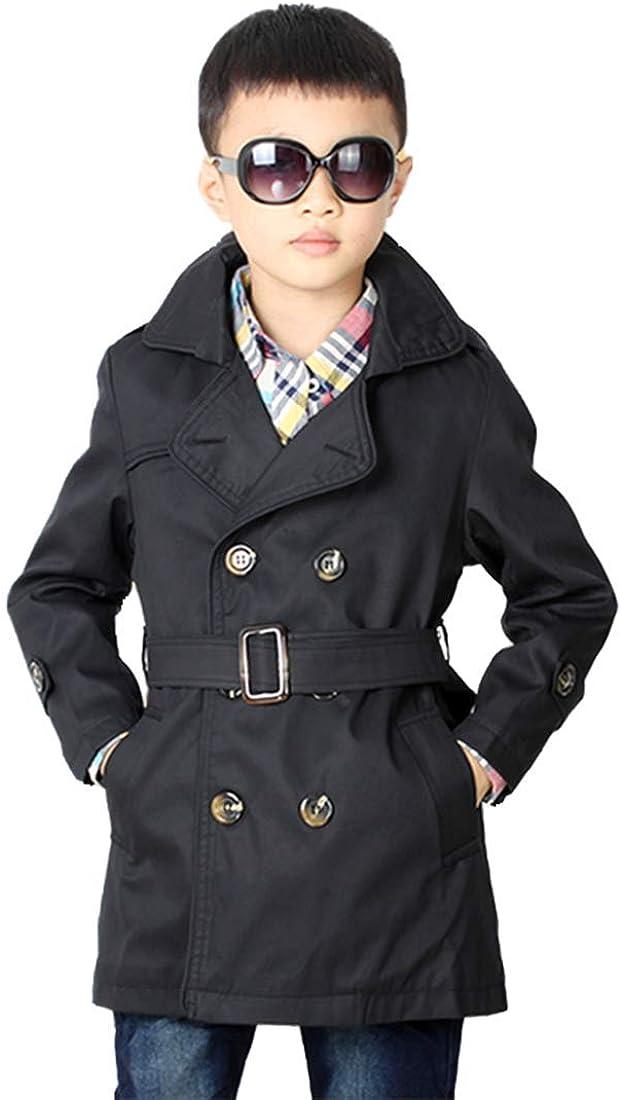 LJYH Big Boys Classic Peacoats Dress Coats Children Fall Toggle Trench Jackets
