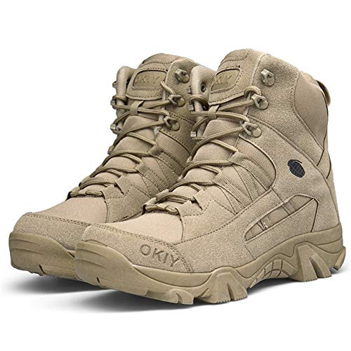 Bitiger Hiking Boots Mens Trekking Shoes Outdoor Army Combat Tactical...