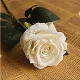MEILI FLOWERFleurs artificielles Fleurs artificielles Roses Table Salons Arrangement Floral Fleur décorative Décoration Fleurs séchées 1 Botte, Blanc