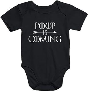 MoonWorks Kurzarm Baby Body Poop is Coming lustig Spruch Baby Onesie Bio-Baumwolle