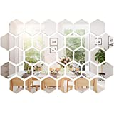32 Pieces Removable Acrylic Mirror Setting Wall Sticker Decal for Home Living Room Bedroom Decor (Style 2, 32 Pieces)