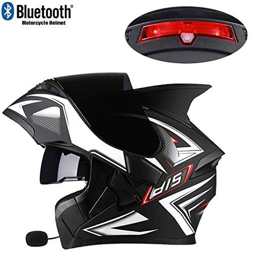 Jackys Casco da Corsa Integrale per Casco da Moto Modulare Bluetooth Integrato Bluetooth Auricolare Bluetooth A Doppio Altoparlante con Microfono Risposta Automatica Nessun Rumore,2XL 63~64CM
