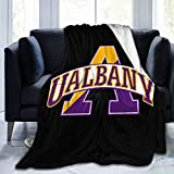 Albany Great Danes University Throw Blanket Kids Adults Ultra Soft Fleece Blanket Bed Couch Chair Living Room All Season 60'X50'