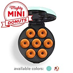 DONUTS IN MINUTES: Make cute, tasty mini donuts at home in no time, perfect for snacking, entertaining and kids. Filled, frosted, glazed, decorated, sprinkles, and more the possibilities are endless QUICK + EASY: Short on time? Simply choose your pre...