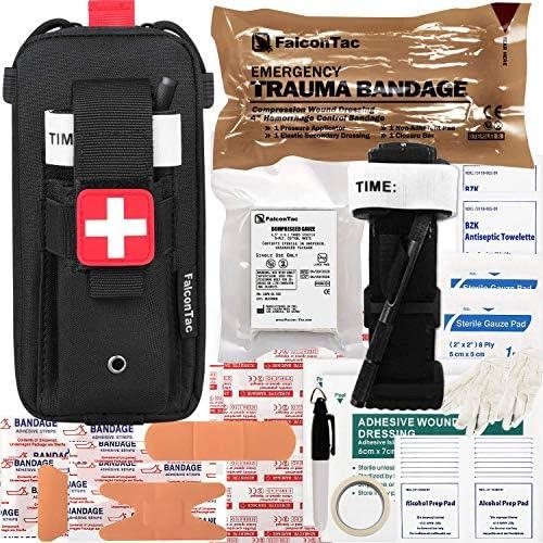 FalconTac Everyday Carry Trauma Kit IFAK Emergency Treatment Care EMT First Aid Kit Black product image
