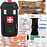 7. FalconTac Everyday Carry Trauma Kit IFAK Emergency Treatment Care EMT First Aid Kit (Black)