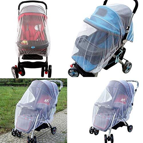 Kinderwagen klamboe - universeel - bescherming tegen insecten - kinderwagen - kinderbedjes - reiswieg - ro - borstbeeld - wasbaar - witte kleur - origineel idee voor een verjaardagscadeau