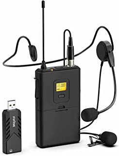Fifine Technology Lavalier/Headset Cardioid Wireless Microphone Public Address