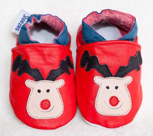 Chaussures de bébé en cuir souple Motif renne