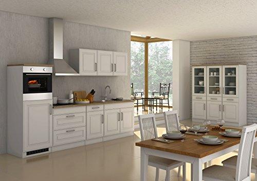 Held Möbel 628.1.6197 Rom Küche, Holzwerkstoff, matt weiß, 60 x 290 x 200 cm