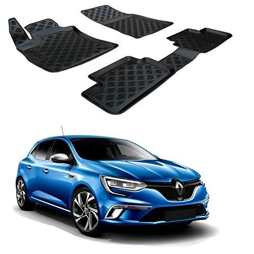 SCOUTT | 3D Tapis DE Sol en Caoutchouc Premium Compatible avec Renault Megane IV 2016-prés