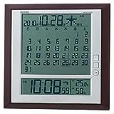 マンスリーカレンダー付き電波掛置き時計 SQ421B