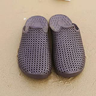 Men Slippers Summer Slides Breathable Man Shoes Fahsion Flat Sandals Male Flip Flops Casual Footwear Big Size 39-46 (Color : Brown, Shoe Size : 10)