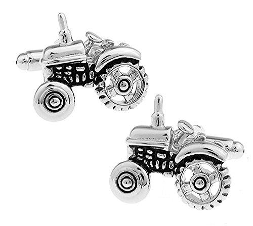 Traktor Manschettenknöpfe in einer luxuriösen Präsentationsbox. Neuheit. Transport. Landwirtschaft. Thema Schmuck