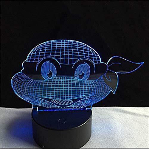 no brand LZP-PP Acrylique 7 Couleurs Ninja Turtles de LED 3D de Veilleuse Lampe Chambre Salon Bureau Table Lumières Décor Veilleuse Enfant Cadeau