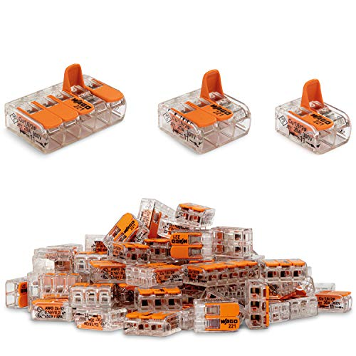 Wago Klemmen Set 90 Stück Sortiment flexibel Hebelklemme Verbindungsklemme Compact 221-412 | 221-413 | 221-415