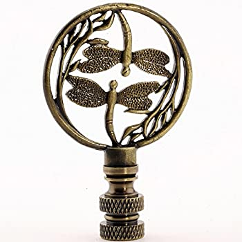2.75 Inch High Whirlpool Lamp Finial in Choice of Finishes Brass