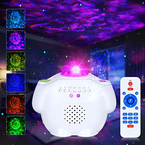Star Projector Night Light Ocean Wave Projector Sky Laser Starry Projector with Bluetooth Music...