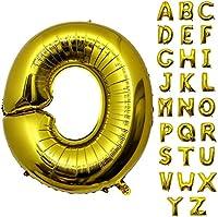 巨大 アルファベット A~Z バルーン セット アルミ ゴールド 文字 バルーン アルファベット 組み合わせ サイズ約100cm 装飾・演出 風船 誕生日 バースデー パーティー イベント ,ゴールド (O)