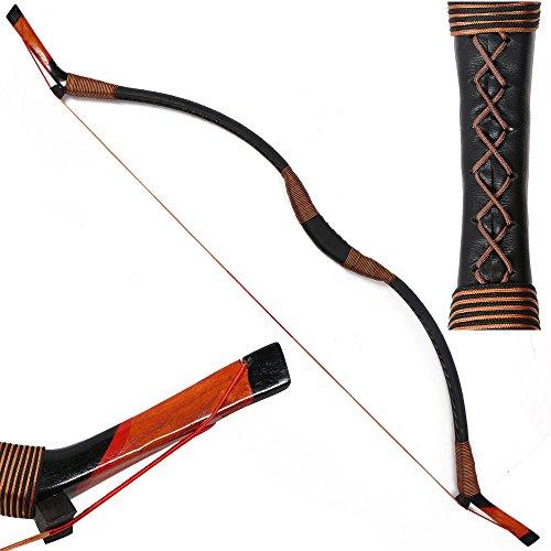I-Sport Traditional Recurve Bow Hunting Handmade Longbow Archery Mongolian Horsebow 30-50lbs (30)