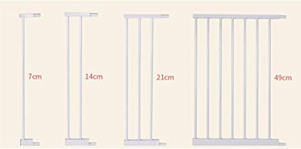 LELEGuardrail Child Safety Door Pet Door Bar Baby Fence Isolation Railing Baby Fence Free Punching  Color White  Size 91-98cm