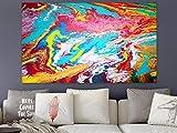 WEISE XXL Acryl BILD Abstrakt Gemälde Leinwand 120 x 200 cm auf 3D Keilrahmen 118/19 NEU