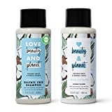 Love Beauty And Planet Volume and Bounty Thickening Shampoo and Conditioner For Hair Volume and Fine Hair Care Coconut Water & Mimosa Flower, Paraben Free, Silicone Free, and Vegan 13.5 oz 2 count