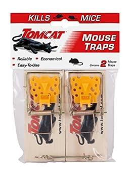 Tomcat Mouse Traps  Wooden  2 Traps