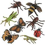 Zerodis Juguete de Insectos, 8 Unids/Set Mundo Animal Salvaje Figuras Modelo de Insectos Modelo de Mariposa Siete Estrellas Mariquita Conjunto Niños Niños Biología Ciencia Juguetes Regalo