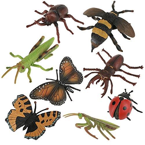 Insekt Spielzeug, 8 Teile/satz Wilde Tierwelt Figuren Modell Insekt Figuren Insekt Modell Set Kinder Kinder Biologie Wissenschaft Spielzeug Geschenk
