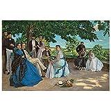 Legendarte - Cuadro Lienzo, Impresión Digital - Retrato De Una Familia - Frédéric Bazille - Decoración Pared cm. 80x120