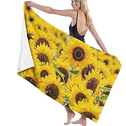 Girasol Personalizado Flor Amarilla Flor Natación Surf Playa Toalla Viajes Deportes Yoga Microfibra Piscina Toalla de baño Absorbente
