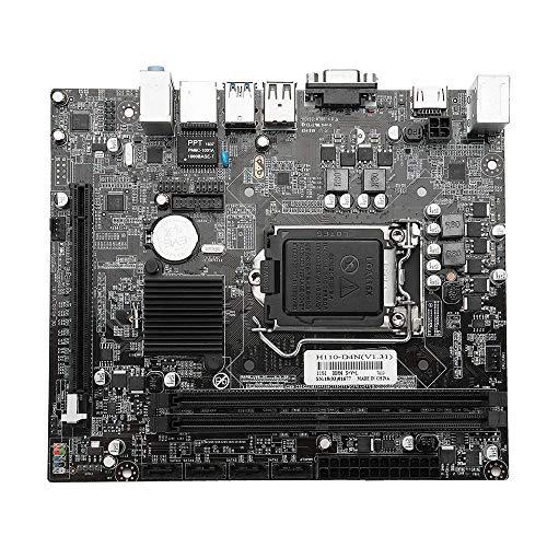Yinglihua M-Set Mainboard CPU kanaal 2 DDR4 2133MHz compatibel met LGA1151 Intel I3 / I5 / I7 Serie CPU H110 moederbord 2 DIMM moederbord kit CPU CPU