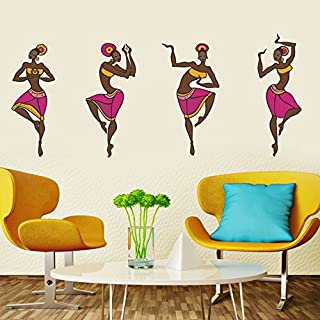 Decals Design 5757 StickersKart Wall Stickers 4 Dancing Tribal Ladies (Wall Covering Area: 120cm x 50cm(Multicolor)