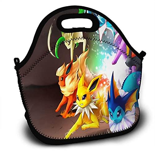 Sac à déjeuner isotherme Pokémon pour enfants et adultes - Grande capacité pour les repas chauds, froids et collations pour l'école, le travail, le pique-nique, les voyages, la randonnée
