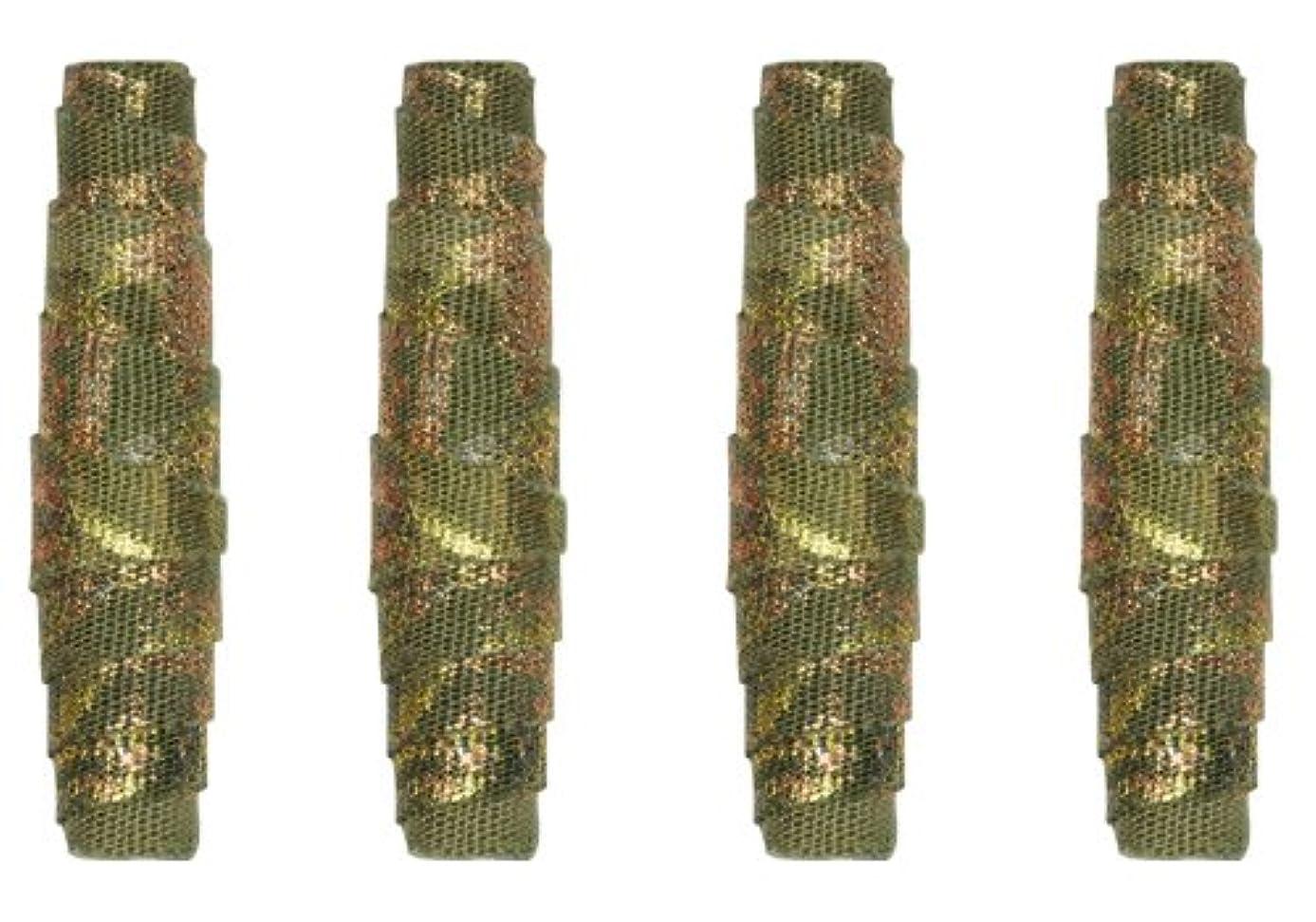 JHB International 361032 Kristal Wick Batik Beauties Fabric Beads 1-Inch Khaki