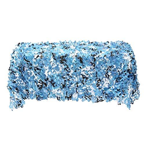 ALXLX Camuflaje Redes Arbolado Ejército Entrenamiento Camo Redes Cubiertas De Coche Taza De Campaña Camping Sol Refugio Fiesta Desierto Selva A Granel Rollo Decoración (Color : Blue, Size : 4x5m)
