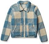 Billabong Girls' Warm and Cozy Zip Fleece Jacket, Surf Blue, XX-Small