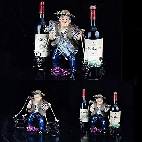 JBNJV Estante para Vino Estante para Copas de Vino Estante para Vino Europeo Creativo Simple decoración de Marco decoración de gabinete de Vino Vino Moderno Porta Botellas de Vino Estante para Cop