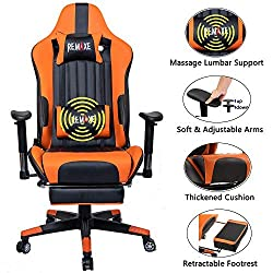 Remax Gaming Chair with Retractable Footrest