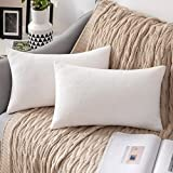 MIULEE 2 Unidades Fundas de cojín para sofá Almohada Caso de Diseño Compuesto de Polar Fleece Cómodo Decoración...