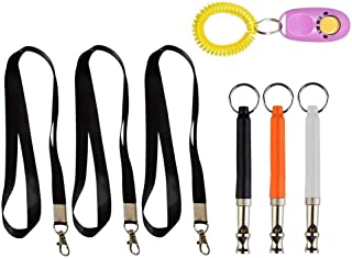 LVH Multifunctional Adjustable Frequencies for Trainers Pet Supplies Whistle +Lanyard+Clicker Ultrasonic Dog Training Set Toy Rope